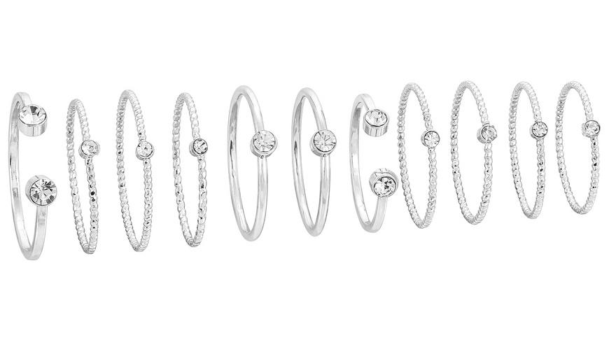 Ring-Set - Silver Glam