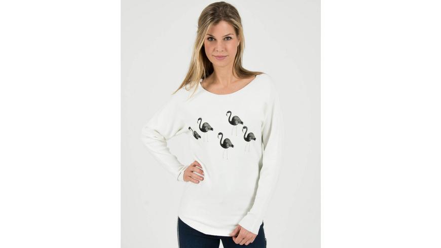 Weicher Pullover mit Flamingo-Design