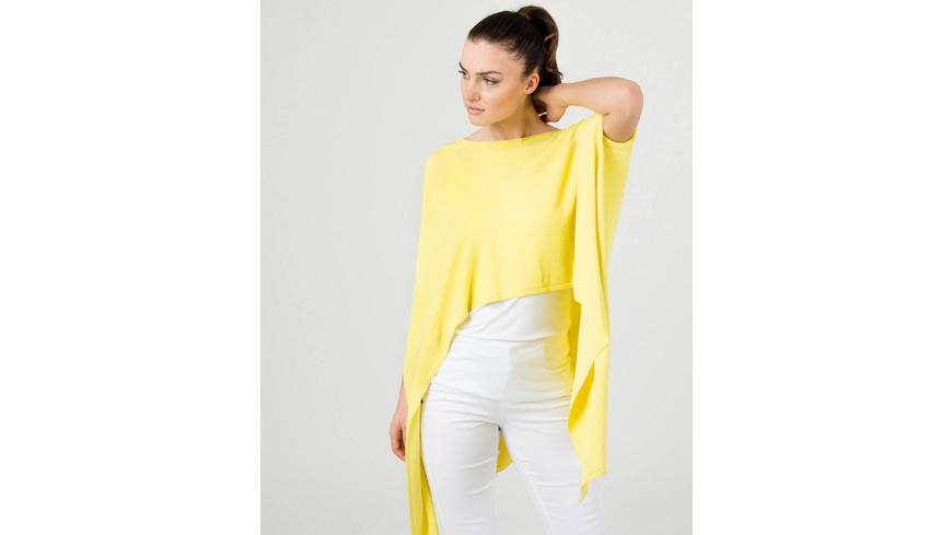 Feinstrick Pullover in Gelb