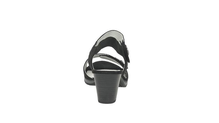 Sandalette aus Wildlederimitat