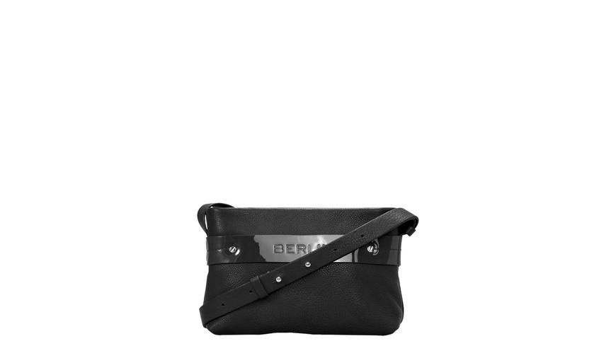 Tasche SoShopper Crossbody S - Umhängetasche mit Kontrastband aus Lackleder