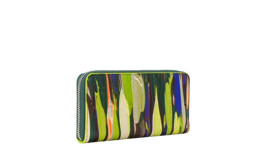 Geldbörse aus bedrucktem Leder - Basic Gigi
