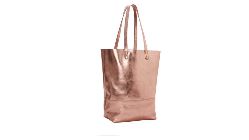 Tasche Metallic Special Viki - Shopper aus Softleder