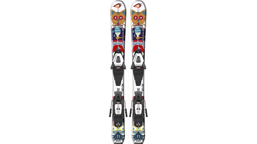 Salomon E T1 JR XS + C5 GW J75 All-Mountain Ski Kinder