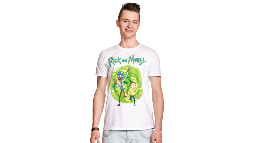 Rick and Morty - Portal T-Shirt weiß