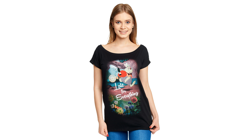Alice im Wunderland - Late T-Shirt Damen Loose Fit schwarz