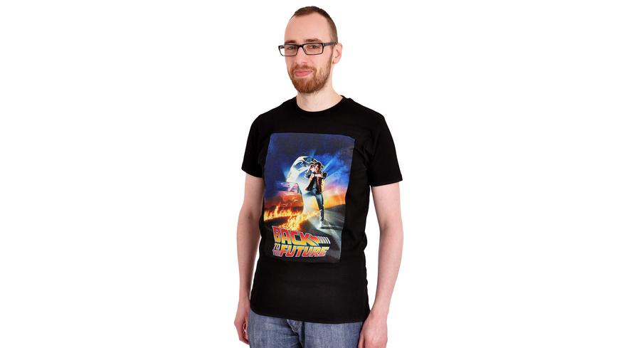 Zurück in die Zukunft - Marty McFly Poster T-Shirt schwarz