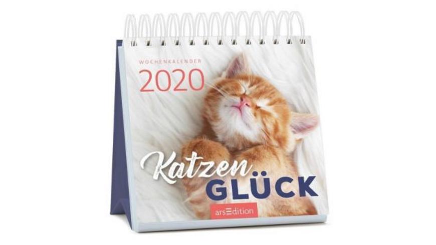 Miniwochenkalender Katzenglück 2020 - kleiner Aufs