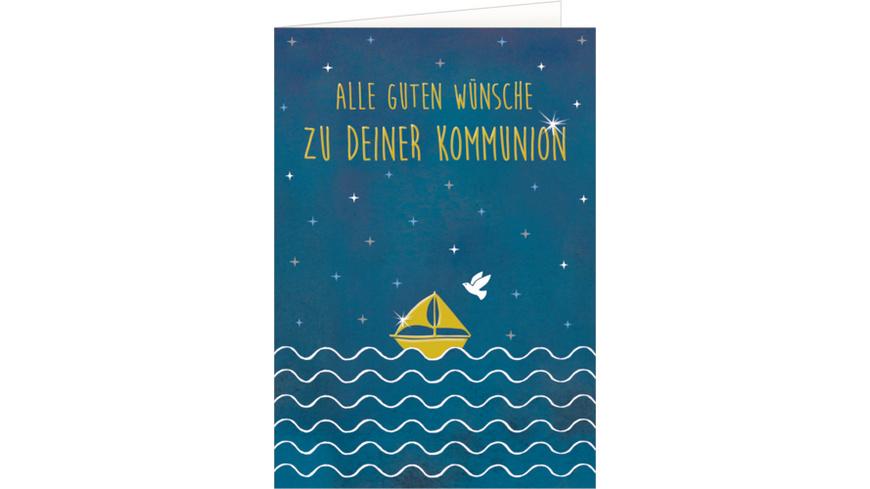 Grußkarte - Alle guten Wünsche zu deiner Kommunion