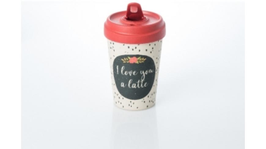 Becher BambooCUP - I love you a latte