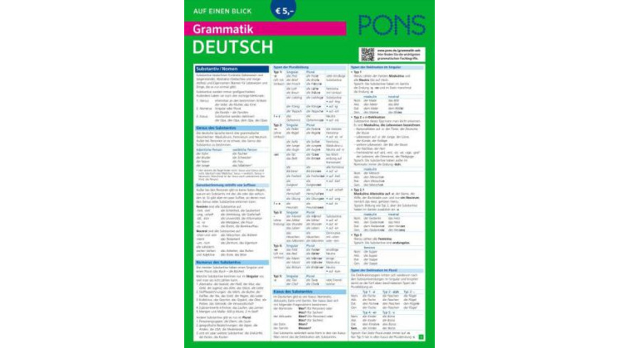 PONS Grammatik auf einen Blick Deutsch