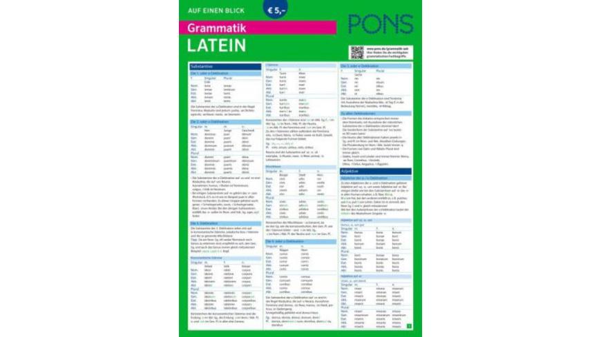 PONS Grammatik auf einen Blick Latein