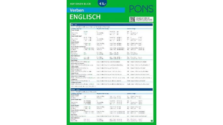 PONS Verben auf einen Blick Englisch