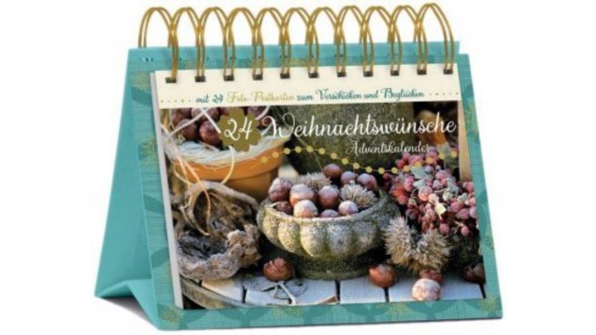 Tisch-Adventskalender  24 Weihnachtswünsche