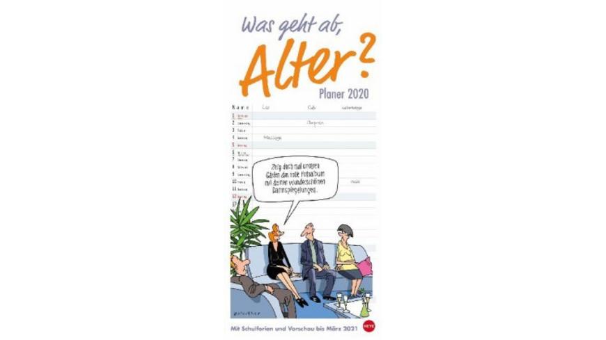 Was geht ab, Alter? - Planer für zwei Kalender 202