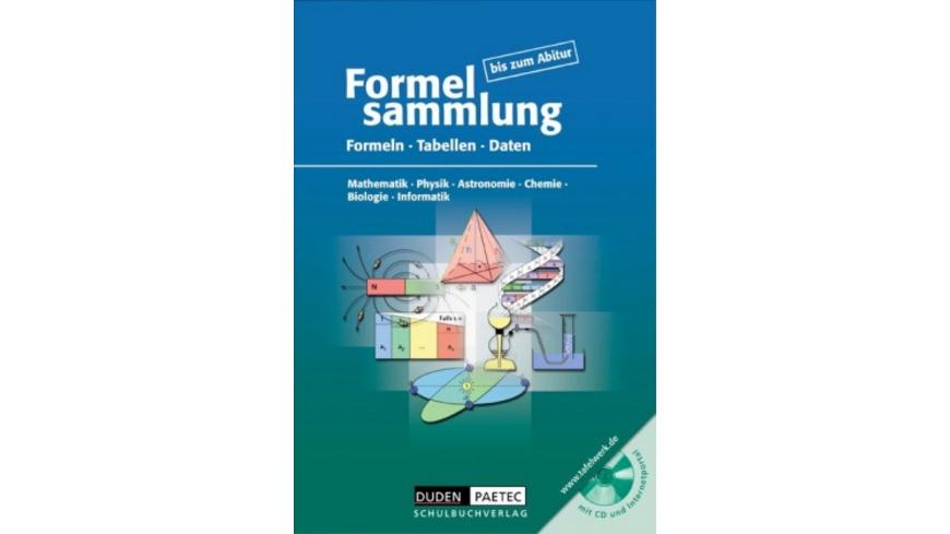 Formelsammlung bis zum Abitur