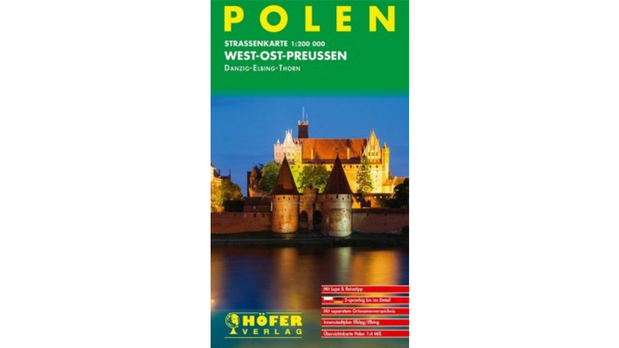 Höfer Polen PL011. West-Ost-Preussen 1 : 200 000