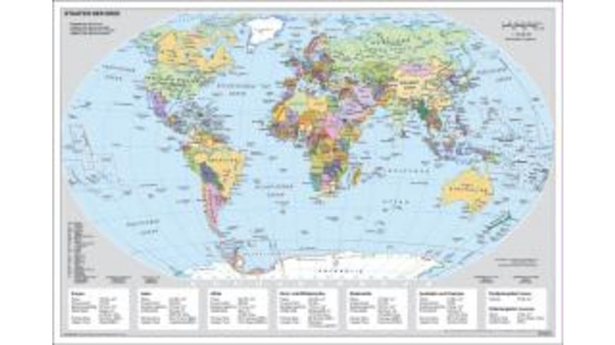 Staaten der Erde Handkarte laminiert