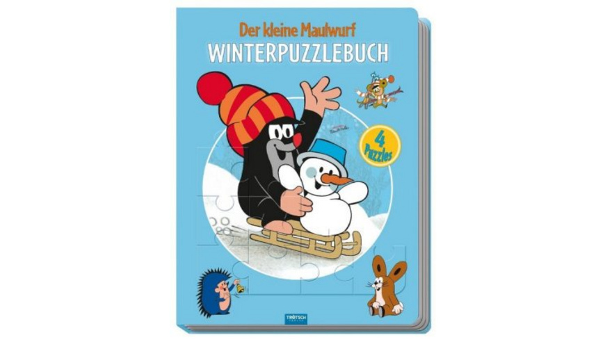 Winter-Puzzlebuch  Der kleine Maulwurf