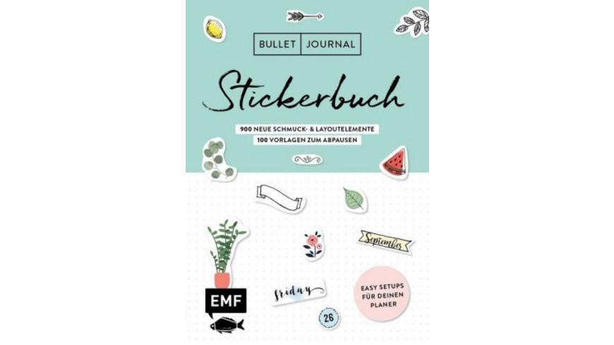 Bullet Journal - Stickerbuch Band 2: 900 neue Schm