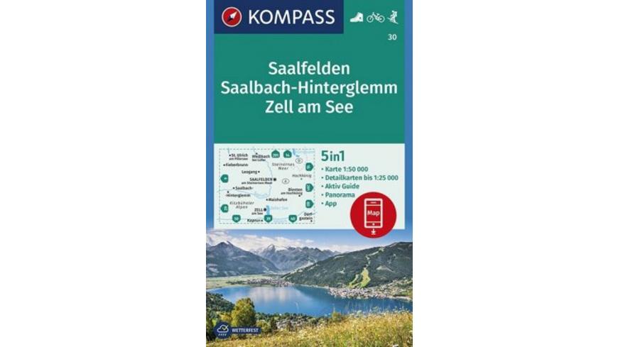 KOMPASS Wanderkarte Saalfelden, Saalbach-Hintergle