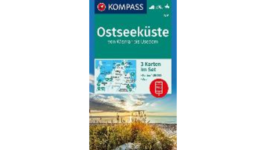 Ostseeküste von Wismar bis Usedom 1:50 000