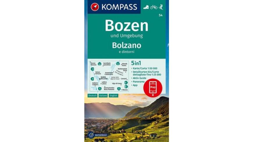 Bozen und Umgebung, Bolzano e dintorni 1:50 000