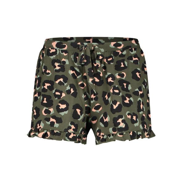 Hunkemöller Shorts aus Jersey Leopard Ruffle