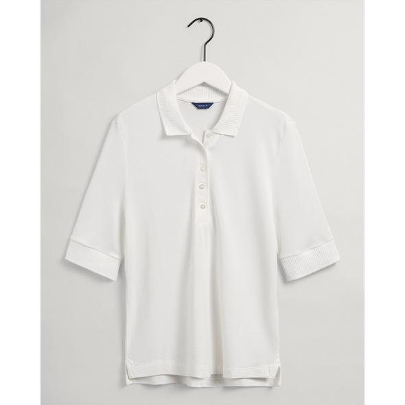 Detail Collar Piqué Poloshirt