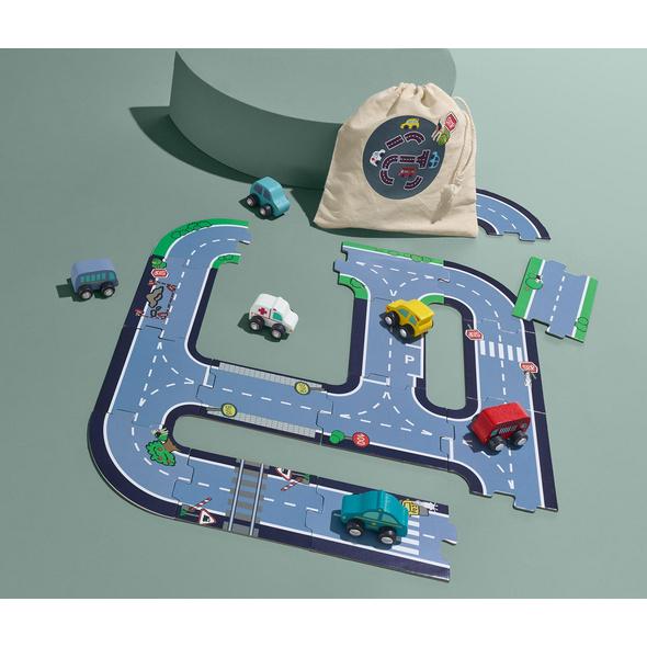 Auto-Spiel-Set mit Spielstraße zum Legen