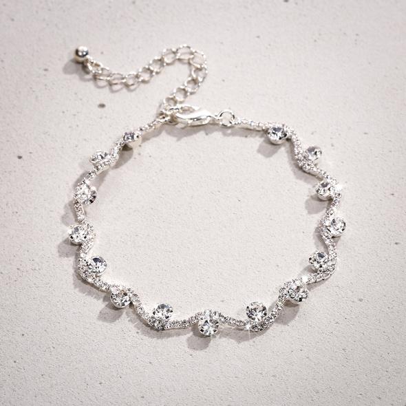 Armband - Silver Wave