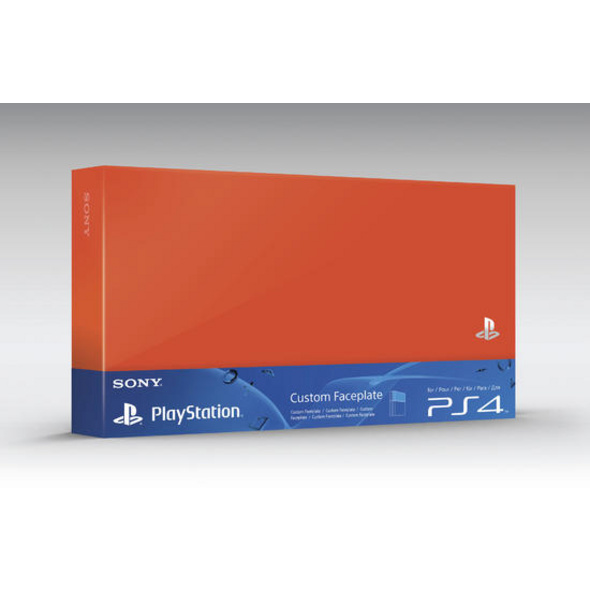 PS4 HDD Cover neon-orange