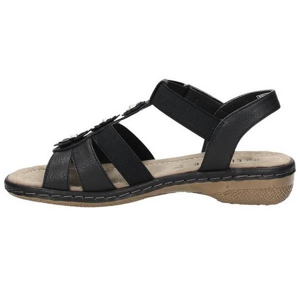 Sandale in Lederoptik