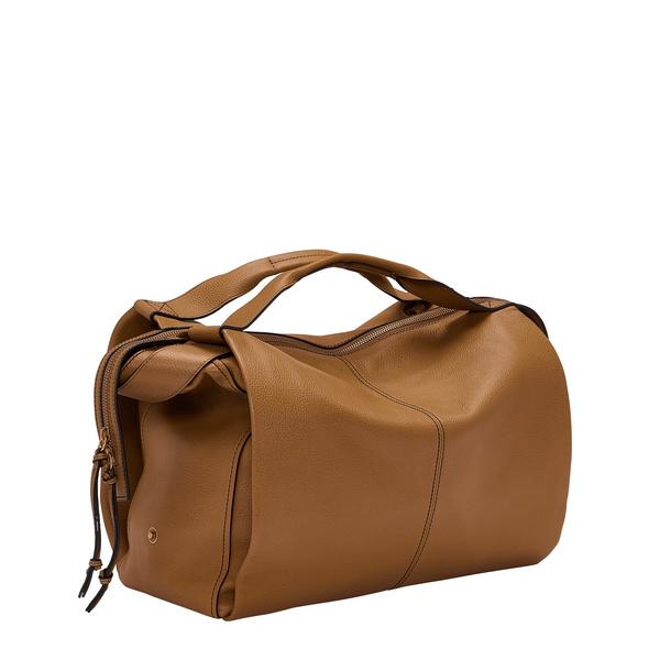 Satchel Bag aus Leder - Gray Satchel L