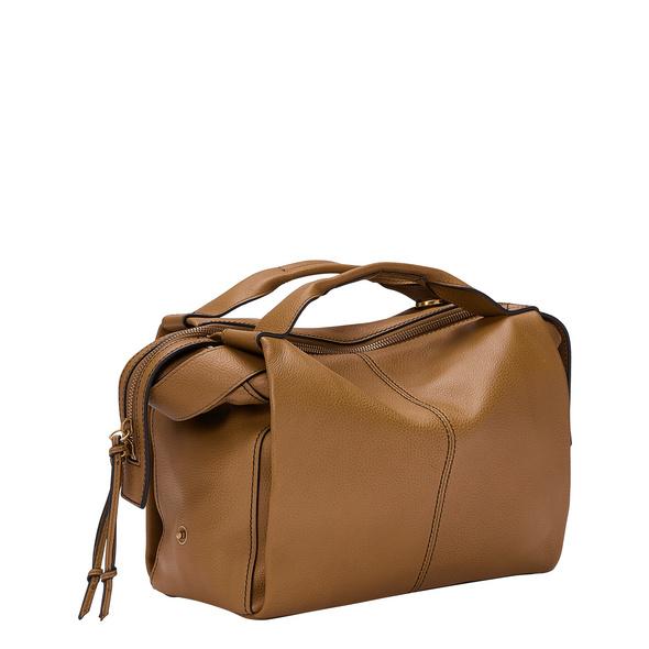 Satchel Bag aus Leder - Gray Satchel S