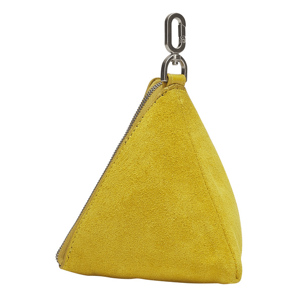 Mini Tasche im Dreieck aus Wildleder - June Triangle Accessory