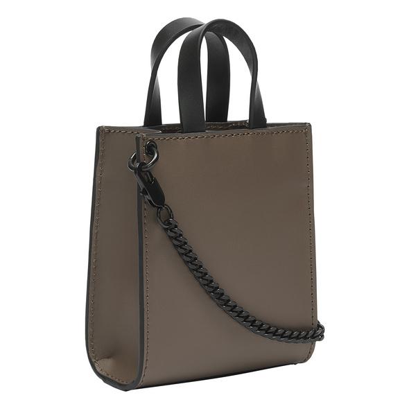 Handtasche aus Leder im Mini-Format - Paper Bag Tote XXS