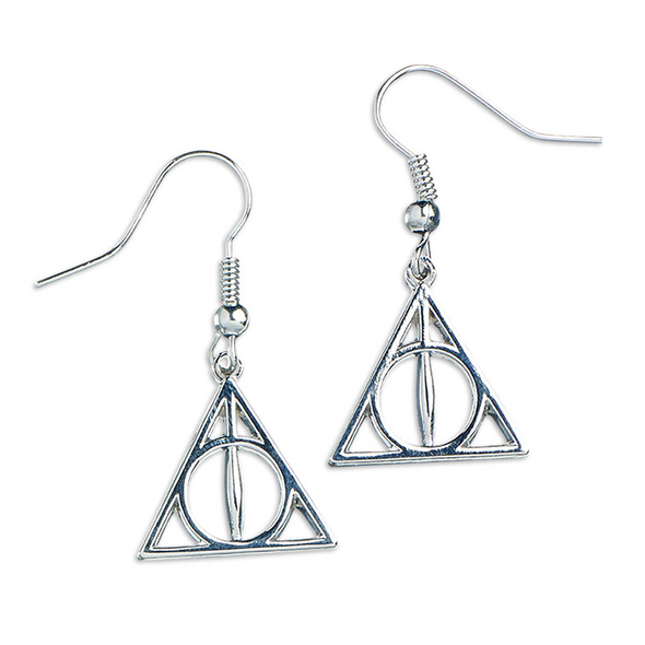 Harry Potter - Silber Ohrringe Deathly Hallows