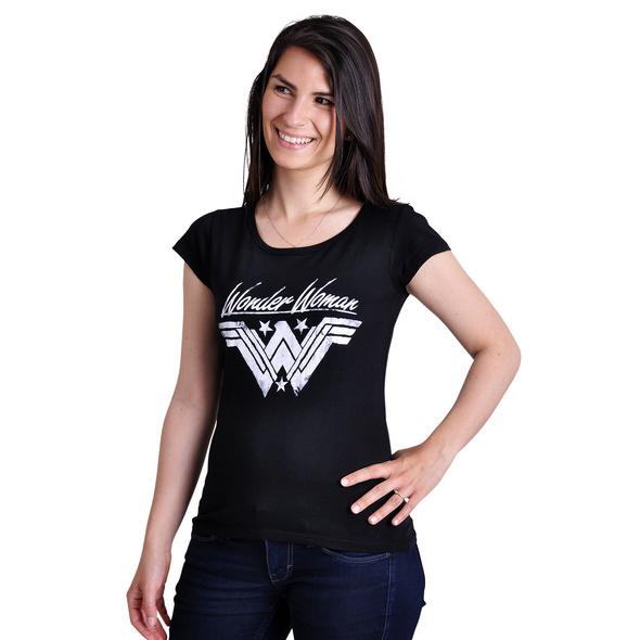 Wonder Woman - Logo Damen T-Shirt schwarz