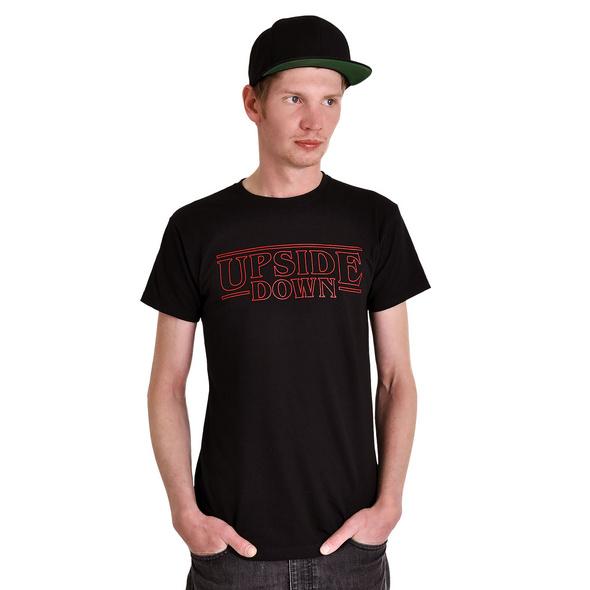 Upside Down T-Shirt schwarz