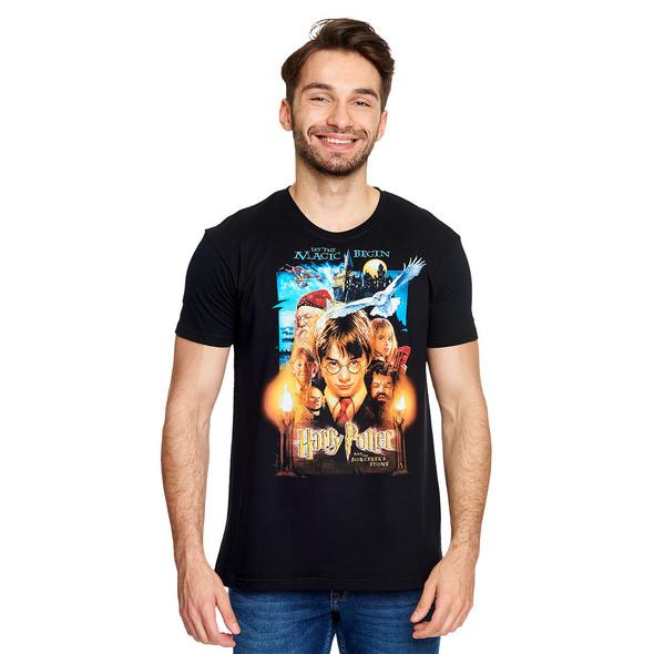 Harry Potter - Stein der Weisen Poster T-Shirt schwarz