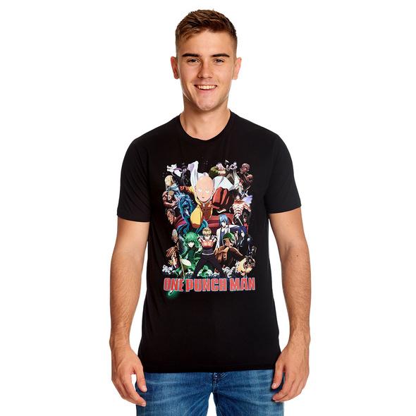 One Punch Man - Collage T-Shirt schwarz
