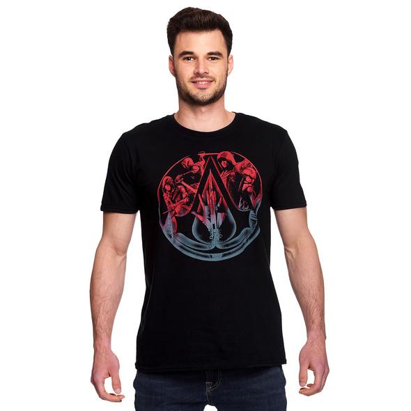Assassins Creed - Characters & Hidden Blade T-Shirt schwarz