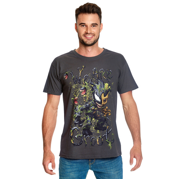 Guardians of the Galaxy - Venomized Groot T-Shirt grau