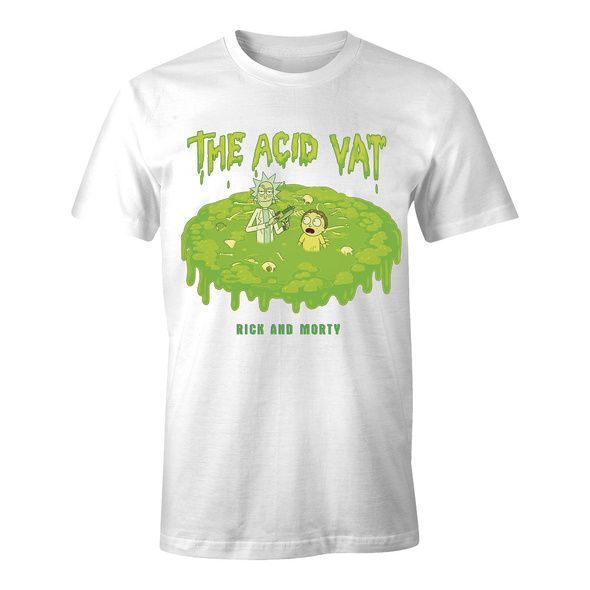 Rick and Morty - The Acid Vat T-Shirt weiß