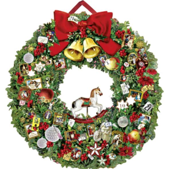 Festlicher Weihnachtskranz Adventskalender