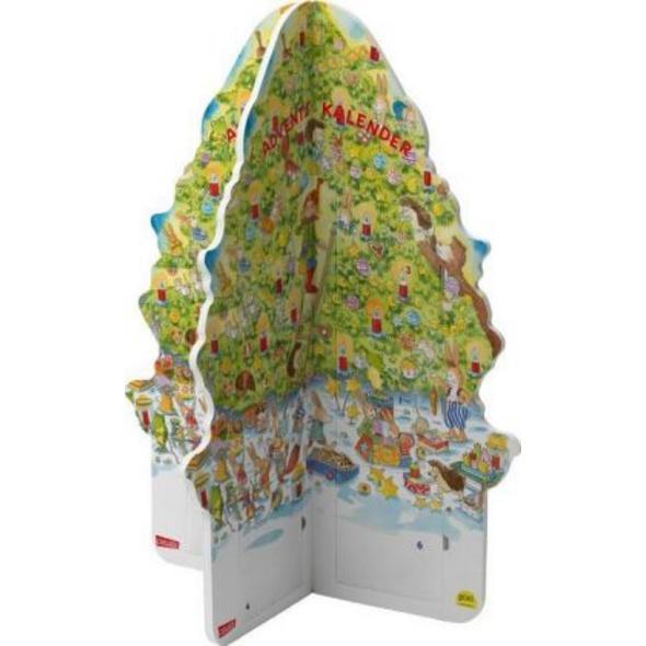 Pixi Adventskalender in Weihnachtsbaumform