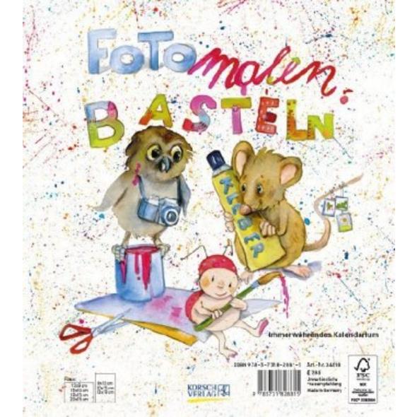 Foto-Malen-Basteln für Kinder, weiß
