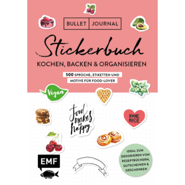 Bullet Journal - Stickerbuch: Kochen, Backen   Org