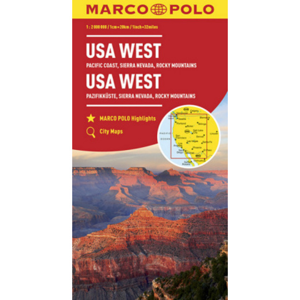 MARCO POLO Kontinentalkarte USA West 1:2 000 000